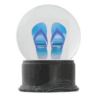 Summer Flip Flops Sandals Beach Art Snow Globe