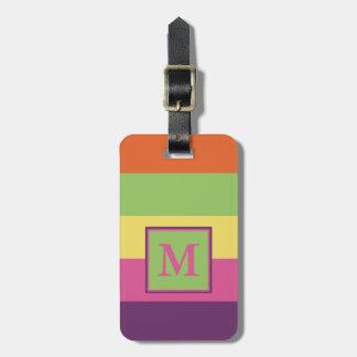 Summer Flip-Flops Stripes Personalized Bag Tag