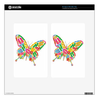 summer flipflop butterfly pegatina skin para kindle fire