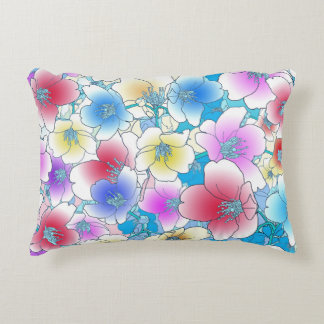 Summer Floral Accent Pillow