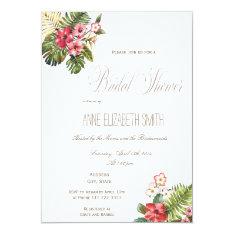 Summer floral Bridal Shower Invitation II at Zazzle