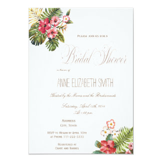 Summer floral Bridal Shower Invitation II
