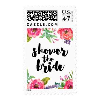Summer Floral Bridal Shower Postage
