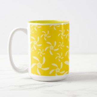 Summer Floral Design. Sunny Yellow. Coffee Mug