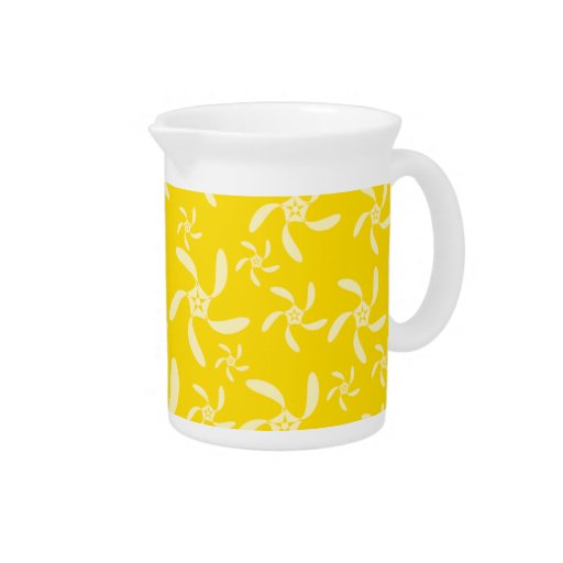 Summer Floral Design. Sunny Yellow. Drink Pitcher