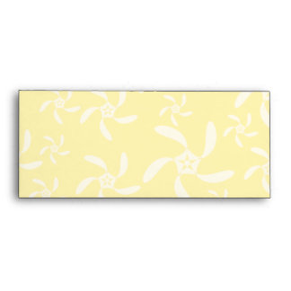 Summer Floral Design. Sunny Yellow. Envelopes