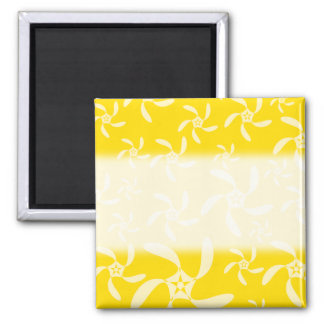 Summer Floral Design. Sunny Yellow. Fridge Magnet