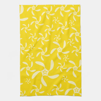 Summer Floral Design. Sunny Yellow. Hand Towel