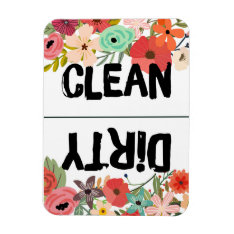 Summer Floral Dishwasher Magnet at Zazzle