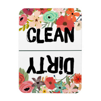 Summer Floral Dishwasher Magnet