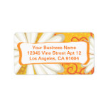 Summer Floral Dotted Tribal Daisy Tattoo Pattern Address Label