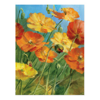 Summer Floral Field Postcard