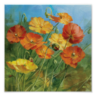 Summer Floral Field Poster