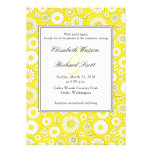 Summer floral yellow wedding invitation