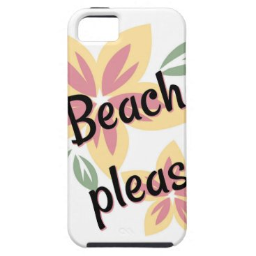 Beach Themed Summer Florals - Beach Please iPhone SE/5/5s Case