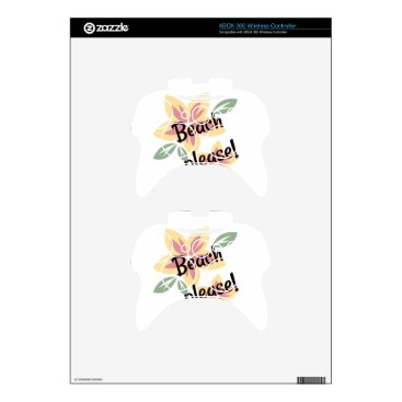 Beach Themed Summer Florals - Beach Please Xbox 360 Controller Skin