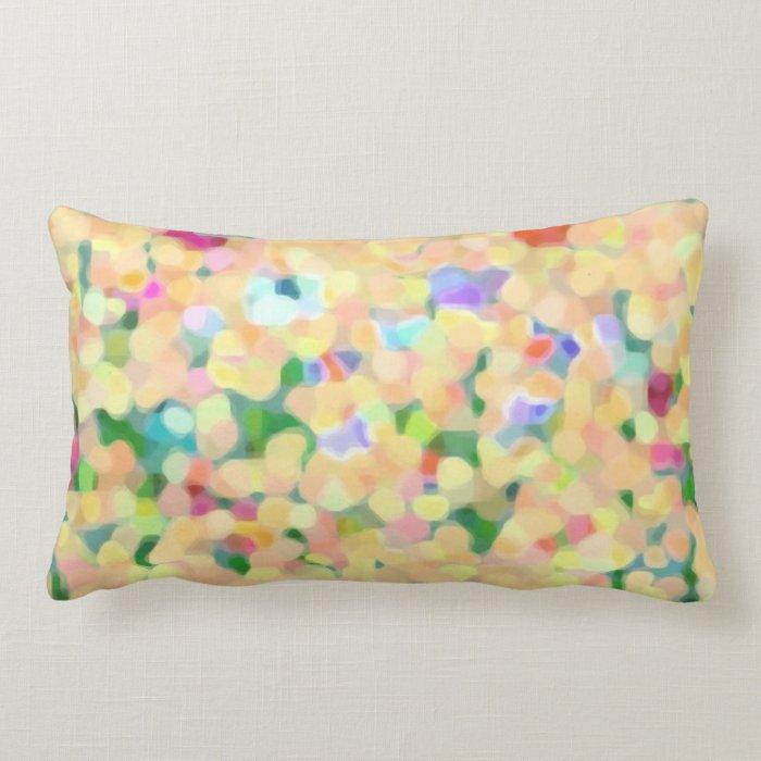 Summer florals lumbar pillow
