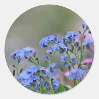 Summer flower classic round sticker