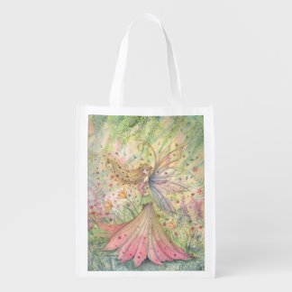 Summer Flower Fairy Fantasy Art Shopping Bag