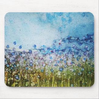 Summer Flower Field - Original alcohol ink design Mouse Pad