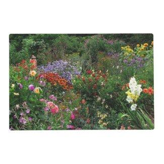 Summer Flower Garden Laminated Placemat