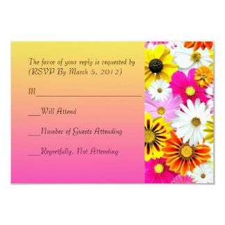Summer Flower Garden RSVP card