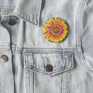 Summer Flower Pop Button