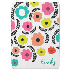 Summer Flowers And Black Leaf Ipad Air Cover at Zazzle