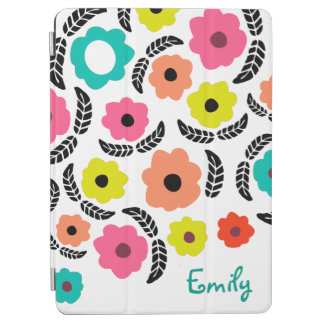 iPad Covers - Summer Flowers and Black Leaf iPad Air Cover