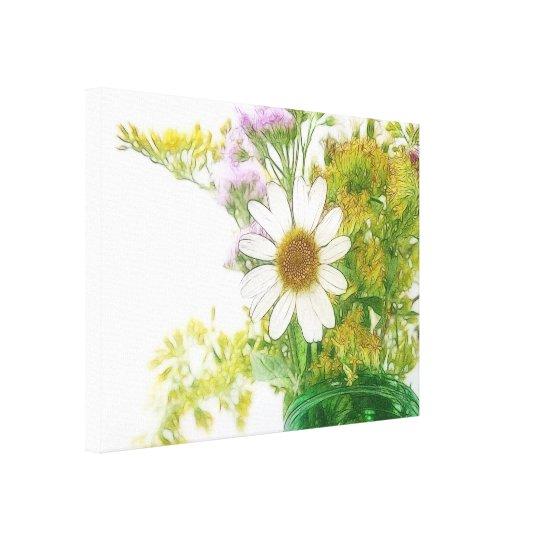 Summer Flowers Bouquet Canvas Print