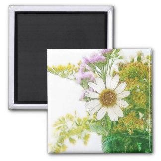Summer Flowers Bouquet Magnet