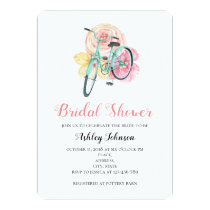 Bicycle invitations pro cycle world summer flowers bridal shower invitation bicycle invitation filmwisefo