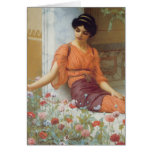 Summer Flowers by John William Godward Greeting Card