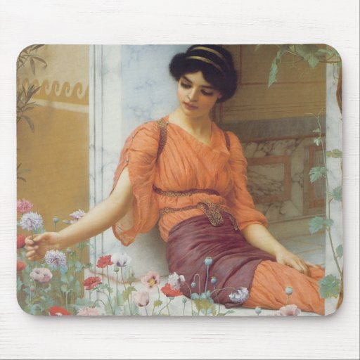Summer Flowers by John William Godward Mouse Pad