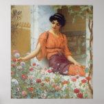 Summer Flowers by John William Godward Poster