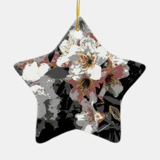 Summer Flowers Ceramic Ornament