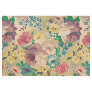 Summer Flowers Colorful Watercolors Illustration Wood Poster