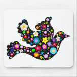 Summer Flowers Dove Mouse Pad