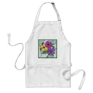 Summer Flowers Faux Stained Glass Apron