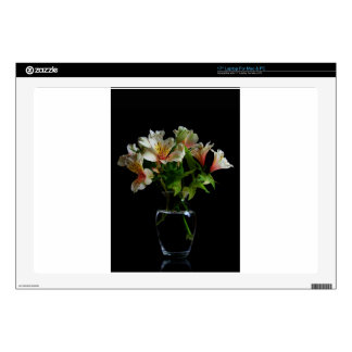 Summer Flowers in a Transparent Vase Decal For Laptop