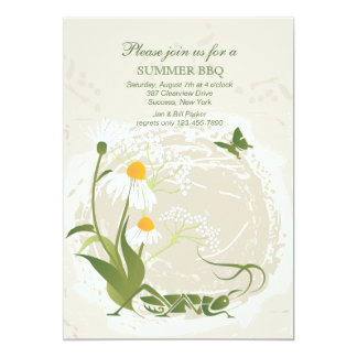 Summer Flowers Invitation