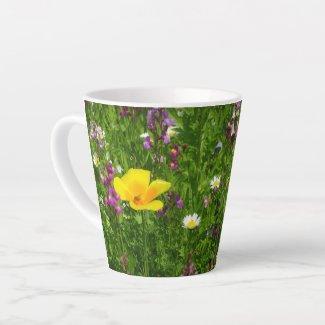 Summer Flowers Latte Mug