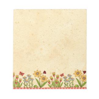 Summer Flowers Notepad