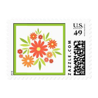 Summer flowers postage