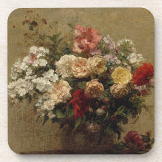 Summer Flowers - realism Beverage Coaster
