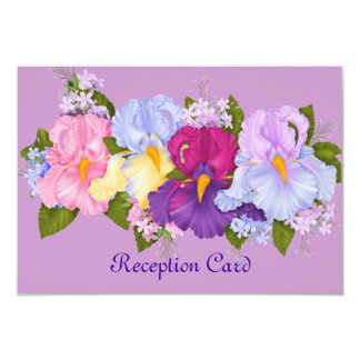 SUMMER FLOWERS RECEPTION CARD WITH MATCHING INVITA