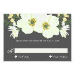 Summer Flowers RSVP Flat Card   Yellow & Gray