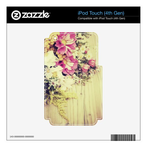 Summer Flowers Skins For iPod Touch 4G