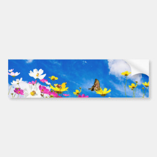 Summer flowers & sky bumper sticker