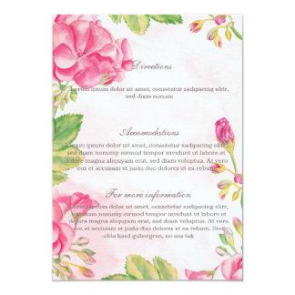 Summer Flowers Wedding  Details Card